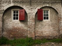 Old brick wall with arches Stock Photography