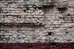 Old brick wall as background closeup Stock Photos