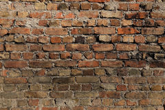 Old brick wall as background. With daylight Stock Photo