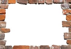Old brick wall as a frame 02 Royalty Free Stock Photos