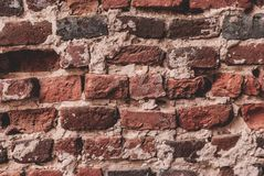 Old Brick Wall Background. Antique wall with red bricks stock images
