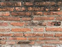 The old brick wall background royalty free stock image