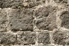 Old brick wall background. Old castle brick wall background stock photography