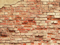 Old brick wall. Old brick wall and background for collages stock photography