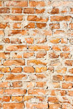 Old brick wall background. Macro shot Stock Photography