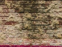 Old brick red brick wall for a background. Royalty Free Stock Images