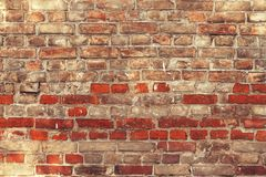 Old brick wall background. Royalty Free Stock Image