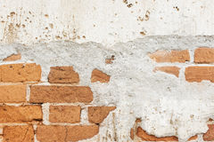 Old brick wall background or texture brick wall.  royalty free stock image