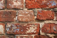 Old brick wall background stock photos