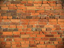 Old Brick Wall Background. View of a Weathered Old Brick Wall Royalty Free Stock Image