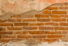 Old brick wall. Background of old vintage brick wall, can be use to background,wallpaper,template,advertisement, blank for add text stock photos