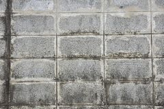 Old brick wall blocks with water stains. Stock Images