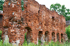 Old brick wall of castle Royalty Free Stock Images