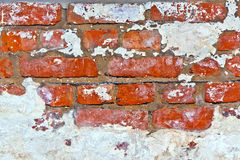 Old brick wall in a cellar Royalty Free Stock Photo
