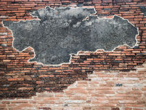 Old brick wall with cement Stock Photos