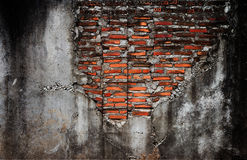 Old brick wall with cement wall. Texture Royalty Free Stock Photography