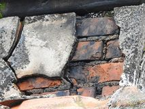 Old brick wall. A close up of an old brick wall Stock Photography