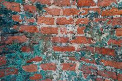 Old brick wall close-up photo. Vintage texture royalty free stock photography
