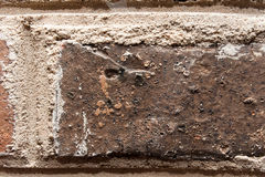 Old brick wall close up texture Stock Photography