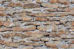 Old brick wall. Closeup photo of old brick wall background, seamless tiling texture Royalty Free Stock Photography