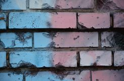 Old brick wall with colorful graffiti Royalty Free Stock Photos