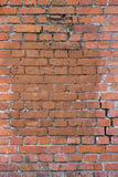Old brick wall. With a crack Royalty Free Stock Photos