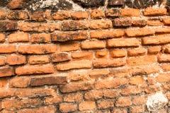 Old brick wall with crumbling bricks Royalty Free Stock Image