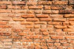 Old brick wall with crumbling bricks Royalty Free Stock Images