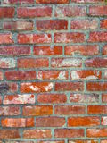 Old brick wall. Dirty grunge old painted old faux brick wall background Stock Images