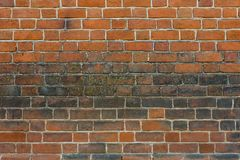 Old brick wall in the form of a background texture royalty free stock photo
