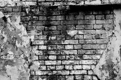 Old brick wall forming a frame Royalty Free Stock Images