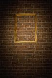 Old brick wall with frame Royalty Free Stock Photography