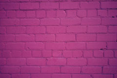 Old Brick Wall Freshly Painted in Purple Color Royalty Free Stock Images