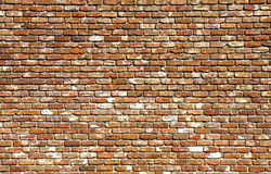 Old Brick Wall Different Colors Stock Photo