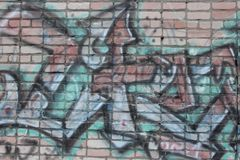 Old brick wall with graffiti Royalty Free Stock Photography