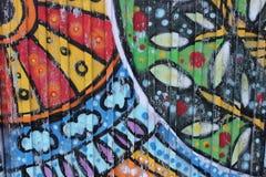 Old brick wall with graffiti Royalty Free Stock Photos