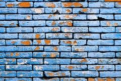 Brick wall. Blue brick wall royalty free stock photo