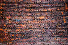 Old brick wall, grunge texture for background, urban style stock image