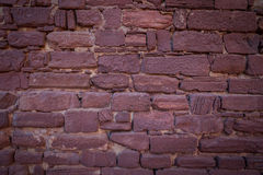 Old brick wall of a historical castle. Royalty Free Stock Photography