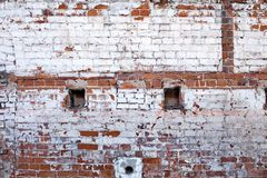Old brick wall of the house. Royalty Free Stock Images