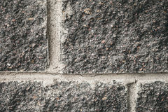 Old brick wall of the house. Mediocrity Royalty Free Stock Photos