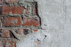 Old brick wall of the house. Stock Photo