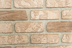 Old brick wall inlaid regularly Royalty Free Stock Photos