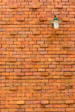 Old brick wall with lamp Royalty Free Stock Photo