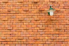 Old brick wall with lamp royalty free stock photos