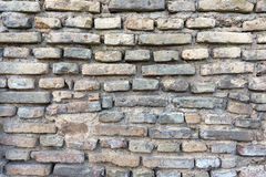Old brick wall with lines of bricks. Stock Images