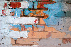 Old brick wall. With many colors Royalty Free Stock Photos