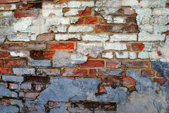 Old brick wall. With many colors Royalty Free Stock Images