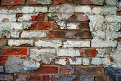 Old brick wall. With many colors Stock Images