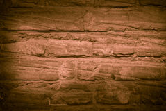 Old brick wall monochrome Stock Images